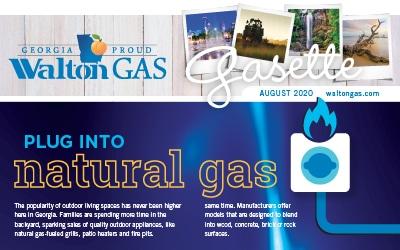 plug into natural gas blue flames